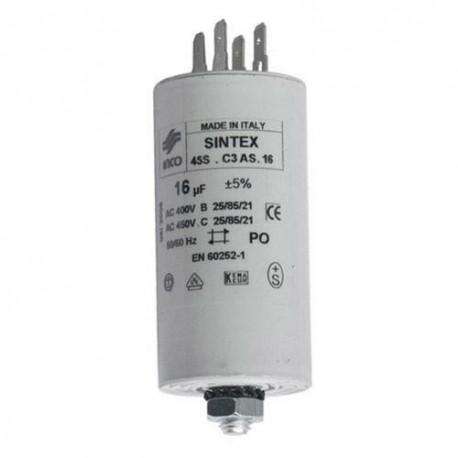 Condensator 16 uF 400/450 nepolarizat electrolitic
